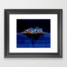Lonelyisland-迷失的孤岛 Framed Art Print