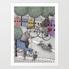 The Day the Cat got Away Art Print