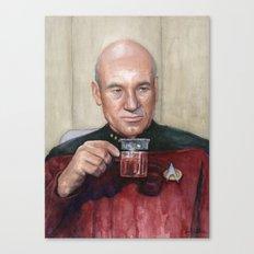 Captain Picard Earl Grey Tea   Star Trek Painting Canvas Print