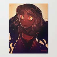 Fire Eyes Canvas Print