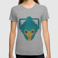 Colorful Cyberman Doctor Who Womens Fitted Tee Athletic Grey SMALL