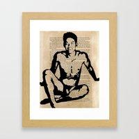I Realized I Was Not Alo… Framed Art Print