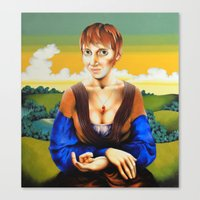 Girl with Blue Sleeves  Canvas Print