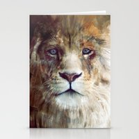 portrait Stationery Cards featuring Lion // Majesty by Amy Hamilton