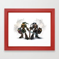 Mirror Reforged Framed Art Print