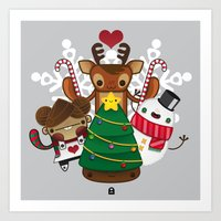 Merry Christmas Chestnut Girl!!! Art Print