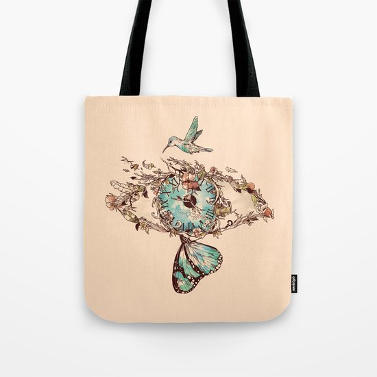 Watching the Passage of Time Tote Bag