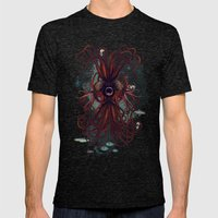 Cthulu Mens Fitted Tee Tri-Black SMALL