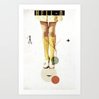 collage Art Prints featuring Cut The (...) | Collage by Julien Ulvoas
