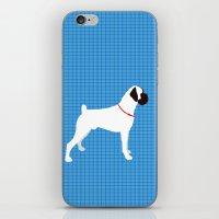 White Boxer Dog Art Print iPhone & iPod Skin