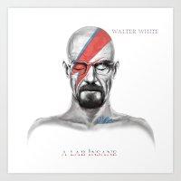 Walter White - A Lab Insane Art Print