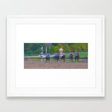 A Day at the Races Framed Art Print