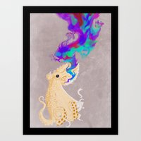 Black Oktopus And His Co… Art Print