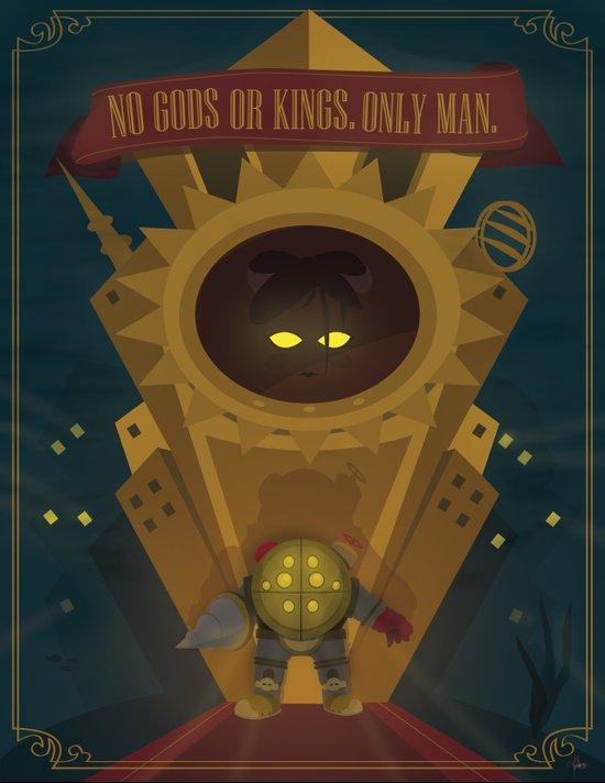 Rapture: No Gods or Kings. Only Man. (BioShock) Art Print