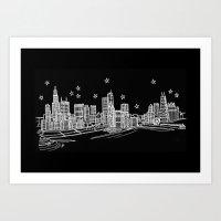 Chicago, Illinois City Skyline Art Print