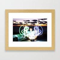 Sunset on Light Framed Art Print