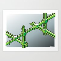 Impossible construction Art Print
