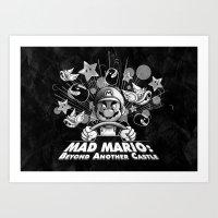 Mad Mario: Beyond Anothe… Art Print