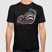 Transparent Chipmunks Love Birch Beer. Mens Fitted Tee Tri-Black SMALL