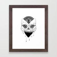 Enigmatic Skull Framed Art Print