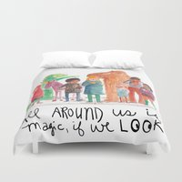 Look up, people! Duvet Cover