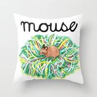 Theatre Mouse Throw Pillow