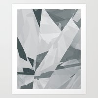 Ice cracks #1 Art Print