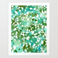 Seaweed Tris II Art Print