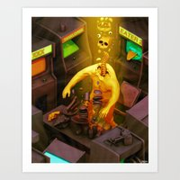 Abduction Of The Arcade … Art Print