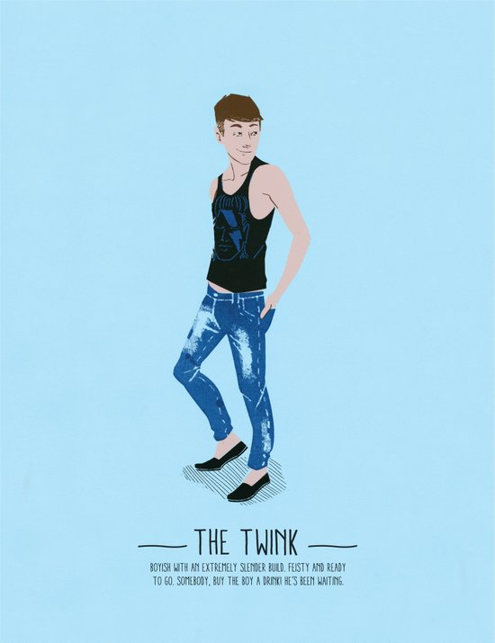 The Twink - A Poster Guide to Gay Stereotypes Art Print