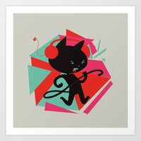 Air Cat Art Print