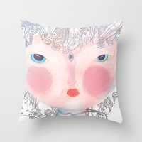 Forest In My Hair Throw Pillow