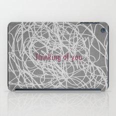 Concrete & Letters II iPad Case
