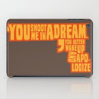 Shoot me in a dream iPad Case