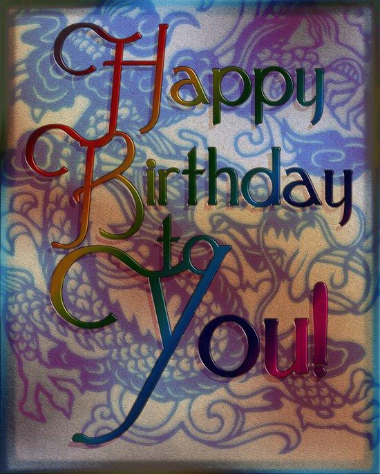 Birthday Dragon Art Print