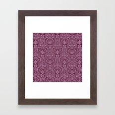 Las Vegas deco pattern Framed Art Print