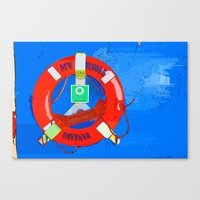 Wheel And Ropes Canvas Print
