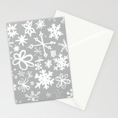 Snowflake Concrete Stationery Cards