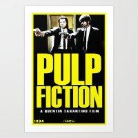 pulp fiction Art Prints featuring PULP FICTION by Rikartdo