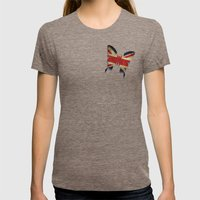 Union & Jack Womens Fitted Tee Tri-Coffee SMALL