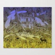 Little Chistmas Snow Fam… Canvas Print