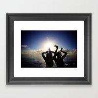 Fun In The Sunset Framed Art Print