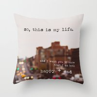 Perks Of Being A Wallflo… Throw Pillow