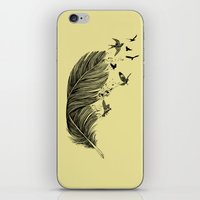 Feather Birds BW iPhone & iPod Skin