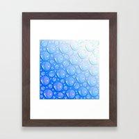 Water Blue Framed Art Print