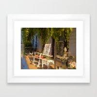 Sun Sets on a Southern Porch Framed Art Print