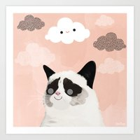 Grumpy No More Art Print