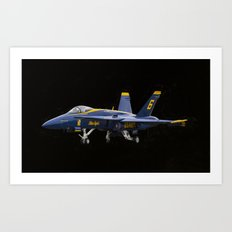 Blue Angel Art Print