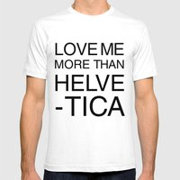 More Than Helvetica Mens Fitted Tee White SMALL