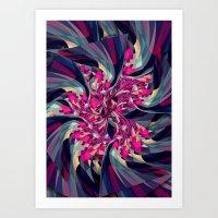 Purple Spiral Art Print